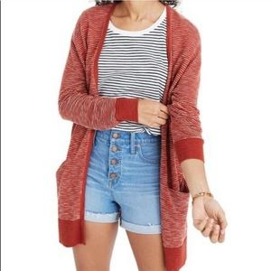 Madewell Ryder Stripe Summer Cardigan Sweater